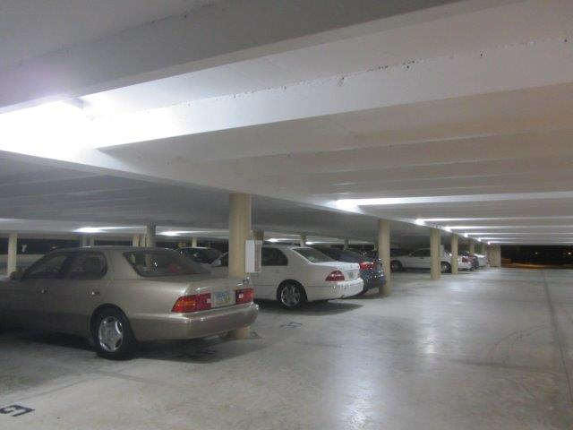 Crescent Beach parking garage with Ledradiant 36w LED corn bulb light