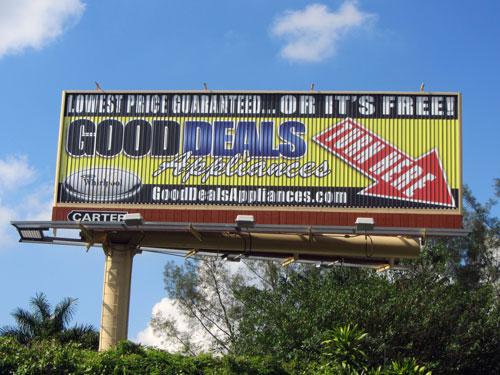Good Deals street sign