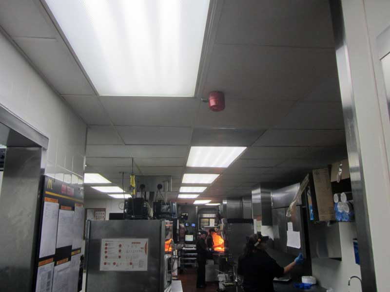 McDonalds kitchen LEDRadiant 18w led tube light