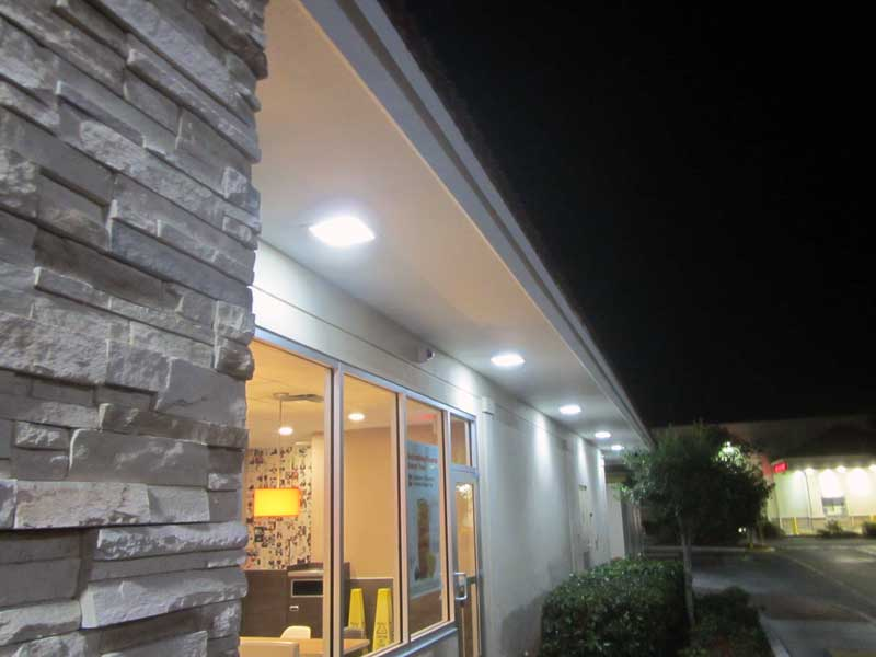 McDonalds perimeter  LEDRadiant 22w led corn bulb cut electric bill to 25%