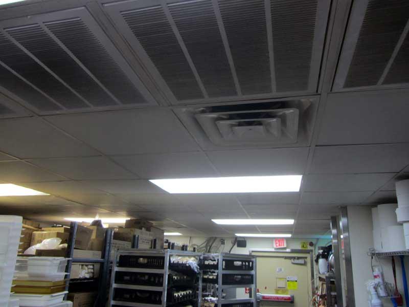 McDonalds storage room  LEDRadiant 18w led tube light cut electric bill to 25%