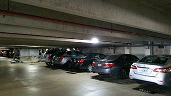 Porto Bellagio LEDRadiant parking garage led illuminated