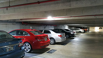 LEDRadiant parking garage led retrofit with 36w led corn bulb