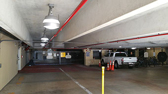 LEDRadiant parking garage led retrofit with 36 watt led corn bulb