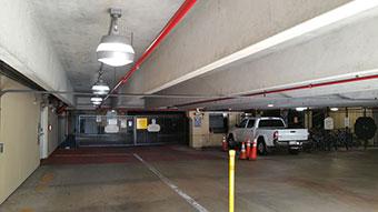 LEDRadiant parking garage led retrofit with 36 watt led corn bulb