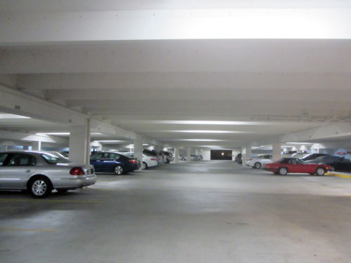 Crescent Beach parking garage with Ledradiant 36 watts LED corn bulb light