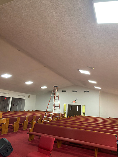 Church Lighting with dimmable panels by Ledradiant