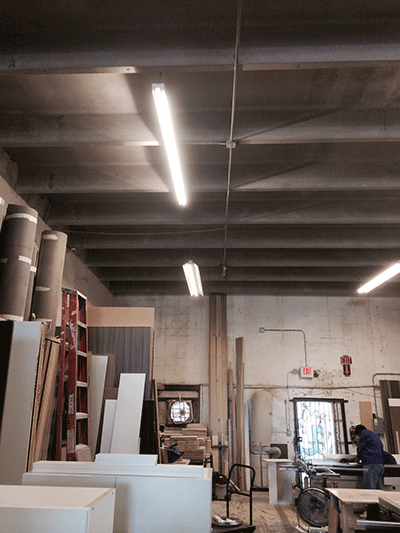 working area lighting with LEDRadiant 36w 8ft led tube light