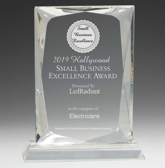 Ledradiant Small Business Award, Hollywood, Florida 2019